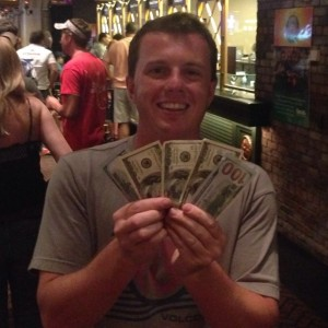 Bachelor success! $500 on his pocket. Bourbon street here we come!